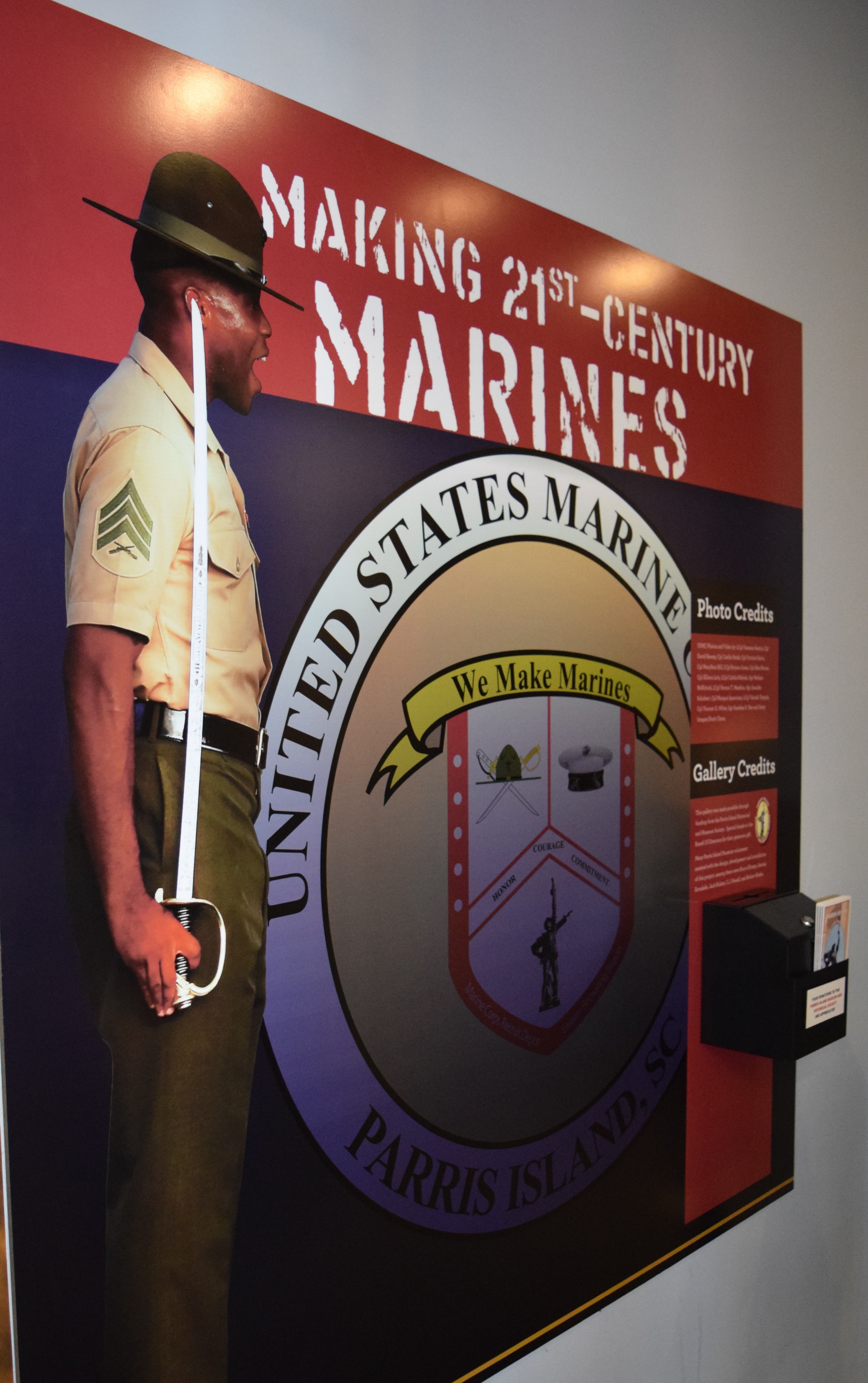 Beaufort signs-Parris Island Marine Corps Museum interpretative panels-